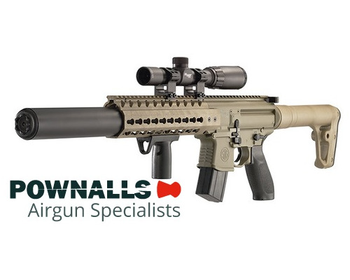 Sig Sauer MCX Air Rifle FDE with SIG 1-4X24 Scope .177 Pellet